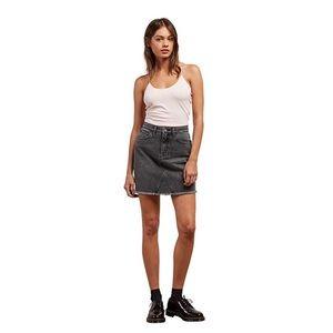 Volcom Stoned high rise raw hem mini skirt medium